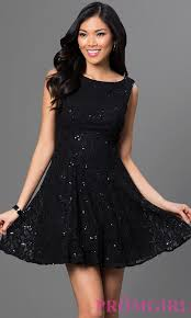 bee darlin black party dress with sequins promgirl