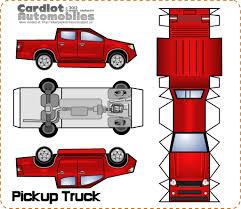 100 Truck Paper Mn Pickup CRAFT PAPERTOYS FOR BOYS Toys Model