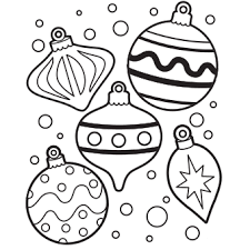 Christmas Ornaments Coloring Pages Preschool For Beatiful Draw