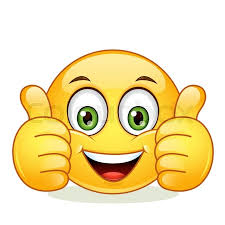 Emoticon Showing Thumb Up Vector Illustration Isolated On White Background