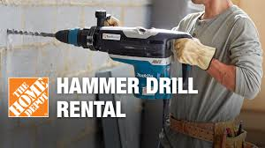 Hammer Drill Rental - The Home Depot - YouTube