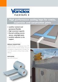 flextape rpm belgium vandex group pdf catalogues