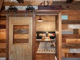 Decor Rustic Home fice With Wood Panel Sliding Barn Doors And