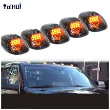 Car Styling 5Pcs Smoked Cover Amber LED Cab Roof Top Marker Running ... 5pcs Amber Led Cab Roof Top Marker Running Lights For Truck Black Led Lighting Fancy Driving Trucks 2016 Gmc Sierra Shows Off Its New Face Aoevolution Dodge Ram 3500 Vw Atlas Tanoak Pickup Teases Honda Ridgeline Rival Slashgear Drl Daytime Light Toyota Hilux 52018 Fog Lamp Itimo 60 6 In 1 Reversing Brake 4 Pin Cnection Tailgate Bar Recon 264227amclx Extra Air Dam Automotive Household Trailer Rv Bulbs Parts Accsories Caridcom Ford F350 Super Duty Questions Need To Locate The Fuse That How Wire Dual Function Running Lights Into Your 2015 Style