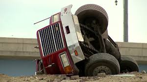 Milwaukee Firefighters Rescue Driver That Rolled Dump Truck ...