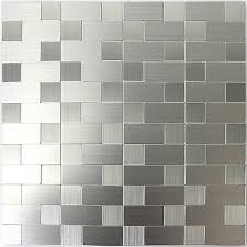 selbstklebende metall edelstahl mosaik fliesen silber mix