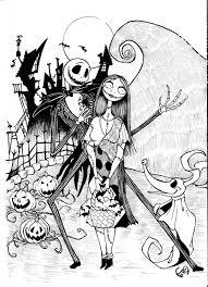 Free Nightmare Before Christmas Halloween Coloring Page Printable
