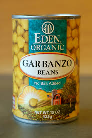 Organic Garbanzo Beans In A BPA Free Can From Eden By Eve Fox Garden