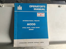 International Acco Trucks Operators Manual - Truck & Tractor Parts ... Diamond Intertional Trucks Inventory For Sale In Edmton Ab 71958 Colors Color Charts Old Truck Parts Image 17632 From Post 4300 Wiring Diagram Schematics Online Catalog Intertional Paystar 5000 5010 5070 Heavy Duty Powder River Ordnance Diagrams For Electrical Wiring Diagrams Michigan My Truck My Kb5