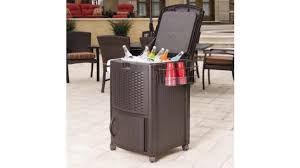 Suncast Resin Patio Furniture by Keep Drinks Cold And Accessible With The Resin Wicker Cooler With
