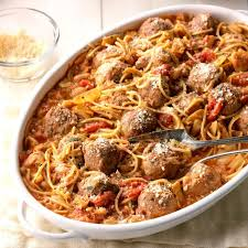 Spaghetti Meatball Skillet Supper