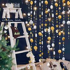 Amazoncom Sumwey Gold And Silver Star Streamers Garland