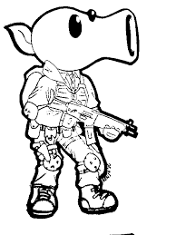 Plants Vs Zombies Coloring Pages Peashooter
