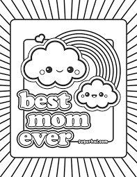 Free Best Mom Ever Coloring Page