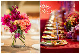 Table Decor With Flowers For Indian Wedding