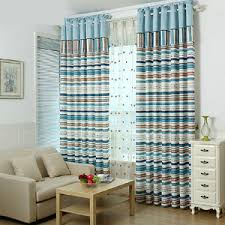 Blue Vertical Striped Curtains by Blue Striped Curtains