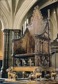 the crowning chair in westminster abbey every british king or