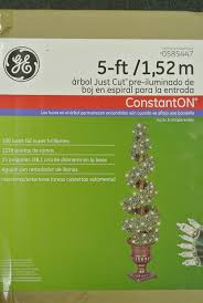 Ge Artificial Christmas Trees by Ge 5ft Pre Lit Just Cut Boxwood Spiral Entry Way Tree Walmart Com