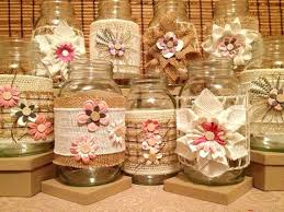 Country Chic Handmade Burlap Jute Inspired Mason Jars Set Of 6 Wedding Diy Party Decorations