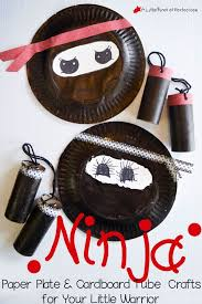 Paper Play Cardboard Tub Ninja Craft