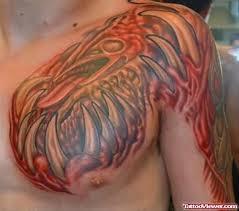 Graffiti Bio Chest Tattoo