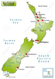 map of new zealand as an infographic in green royalty free