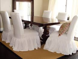 Endearing White Dining Room Chair Covers With Fabric How To Re Cover A