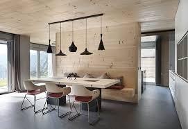 modernes holz interieur design für offene küche mit