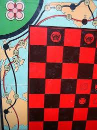 Antique Framed Game Board Multi Games 1930