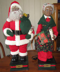 Dillards Christmas Decorations 2014 by Holiday Creations Motion Animated Santa U0026 Mrs Claus Black African