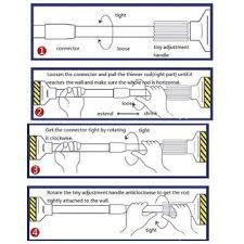 Kmart Curtain Rod Ends by 7 Kmart Curtain Rod Ends Easy2hang Extendable Telescopic