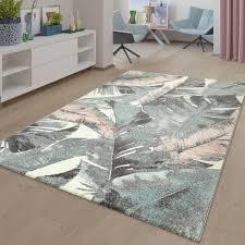 kurzflor wohnzimmer teppich vintage 3d optik florales muster