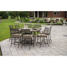 berkley rockport 9 pc high top tile dining set bj s
