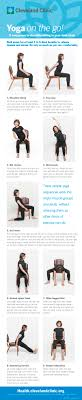 9 Easy Chair Yoga Poses To Try At Work Infographic