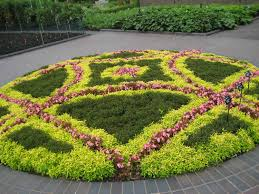 Garden Astonishing Colourful Rectangle Rustic Stone Flower Bed Designs Floor And Flowers Design