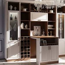 Dining Room Furniture Pantry Kitchen Cabinet With Wine