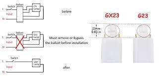 bonlux 2 pack 6w gx23 2 pin led pl retrofit l 13w gx23d cfl