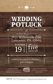 Rustic Post Wedding Reception Invitations Barn Party