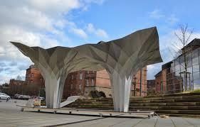 100 Tal Design Friedmans Origami Pavilion Is An Ultramodern Interpretation Of