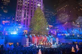 average socialite rockefeller center tree lighting nyc