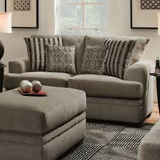 American Furniture Manufacturing Loveseats 3652 Cornell Pewter
