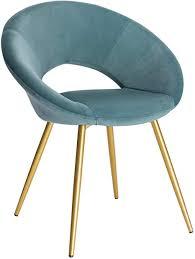 woltu esszimmerstuhl bh230ts 1 1 stück küchenstuhl polsterstuhl wohnzimmerstuhl sessel sitzfläche aus samt gold metallbeine türkis