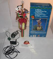 Christmas Tree Toppers Disney by Mr Christmas Tree Topper Mickey Mouse Carousel Animated Reindeer
