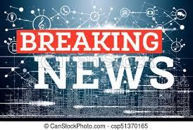 Breaking News On Neon City Skyline Background Tv Design Vector Illustration