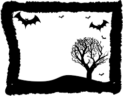 Free Halloween Page Border Clip Art by Landscape Clipart Halloween Pencil And In Color Landscape
