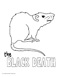 World History Coloring Pages Printables The Black Death Rat
