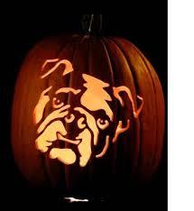 Boston Terrier Pumpkin Pattern by Bulldog Pumpkin Stencil