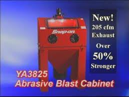 Media Blasting Cabinet Manufacturers by Snap On Tools Ya3825 Clam Shell Sand Blast System Youtube