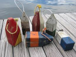 wooden new england lobster trap buoys inspiration for shape of