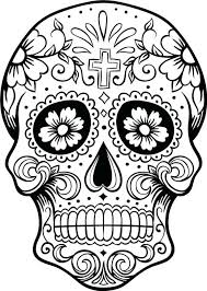 Free Printable Coloring Pages For Adults Quotes Skull Sugar